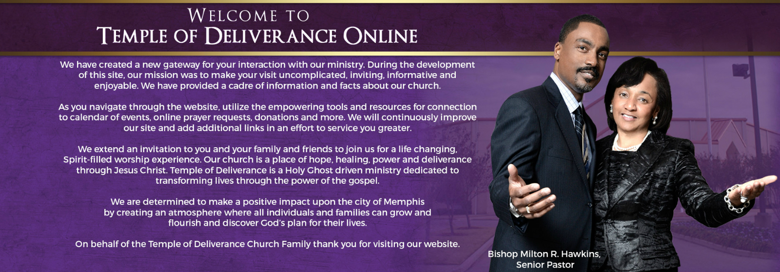 Temple of Deliverance Church of God in Christ - Home